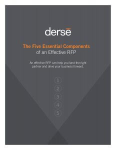 Five Essential Components of an effective RFP White Paper