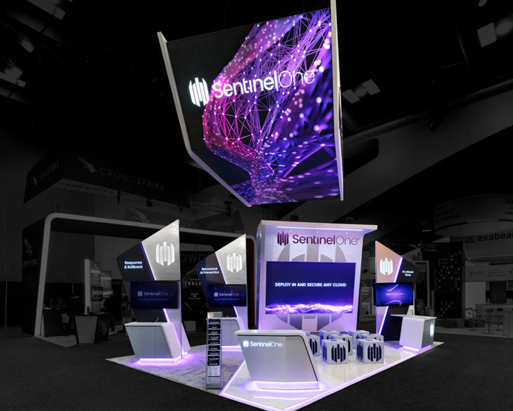 SentineOne Trade Show Exhibit Front View