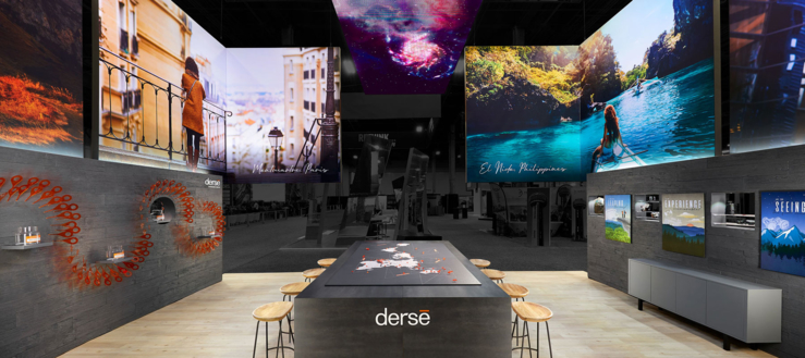 interior shot of Derse exhibit